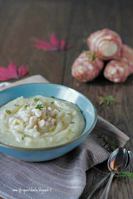 Comfort soup: crema di topinambur e patate - QuantoBastaBlog by BarbaraG