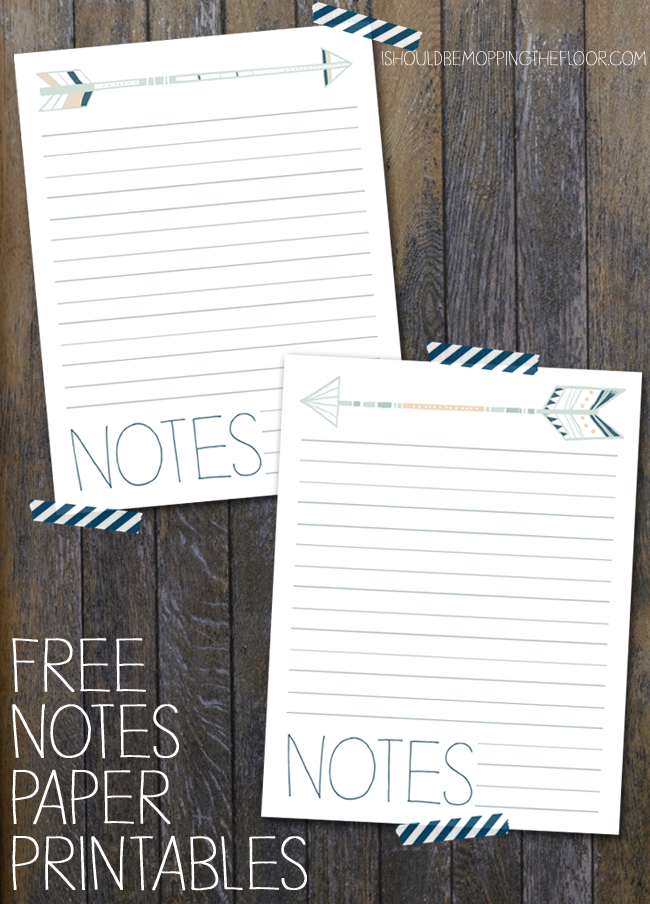 Free Notes Printables | Instant Downloads | Funky hand-drawn arrow designs.