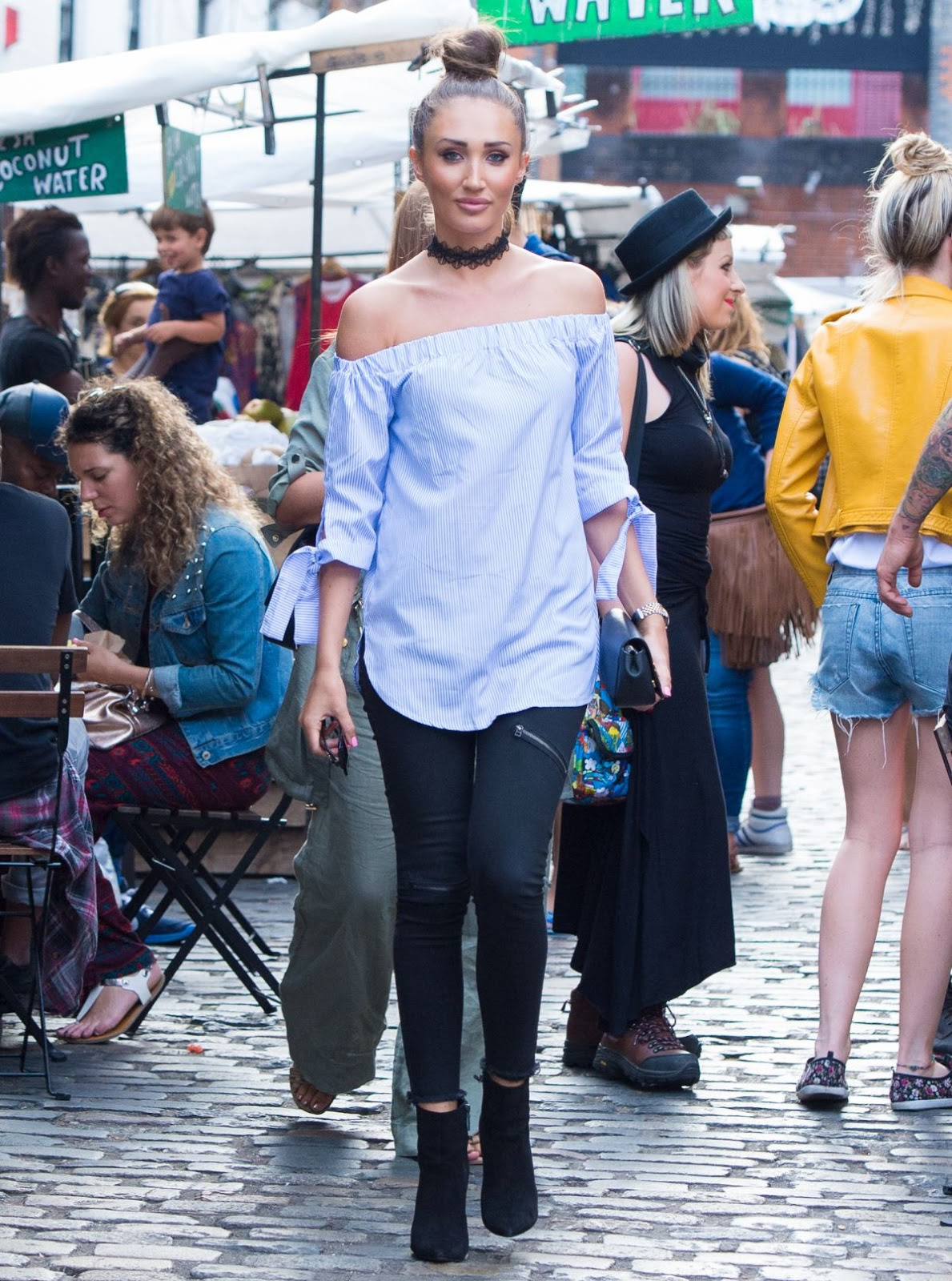 HQ Photos of Megan Mckenna Arrives at Gilgamesh, London