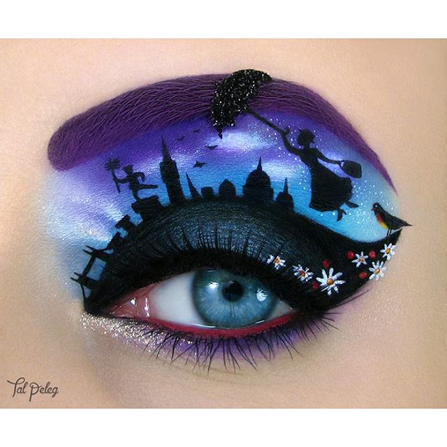 06-Mary-Poppins-Julie-Andrews-Tal-Peleg-Body-Painting-and-Eye-Make-Up-Art-www-designstack-co