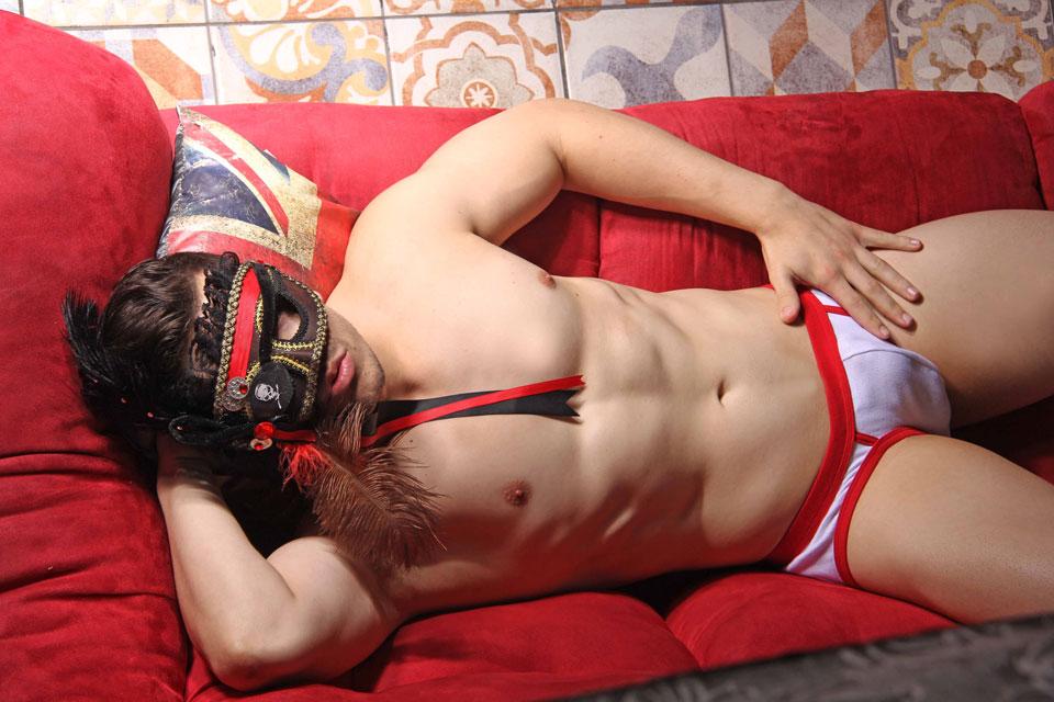 Mike Rivier posa para nova campanha da Briefs Men Underwear. Foto: Jorge Beirigo