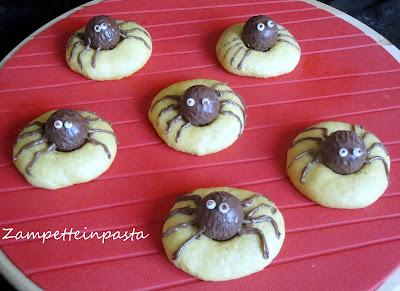 Biscotti ragno - Ricetta per Halloween
