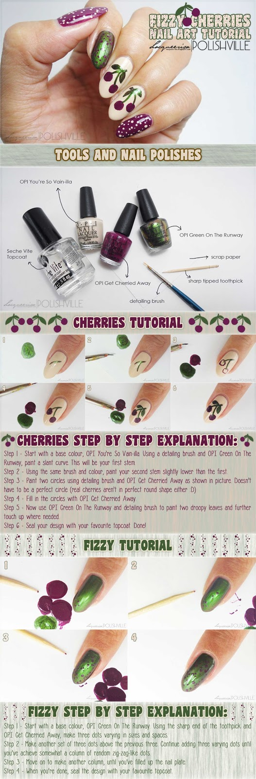 Fizzy Cherries Tutorial, LacqueerisaXPolishville