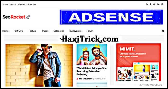 seo rocket best free adsense friendly blogger template