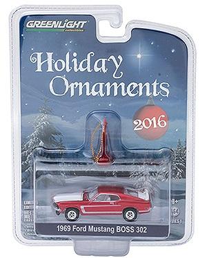 diecast ford mustang BOSS 302 holiday ornaments greenlight