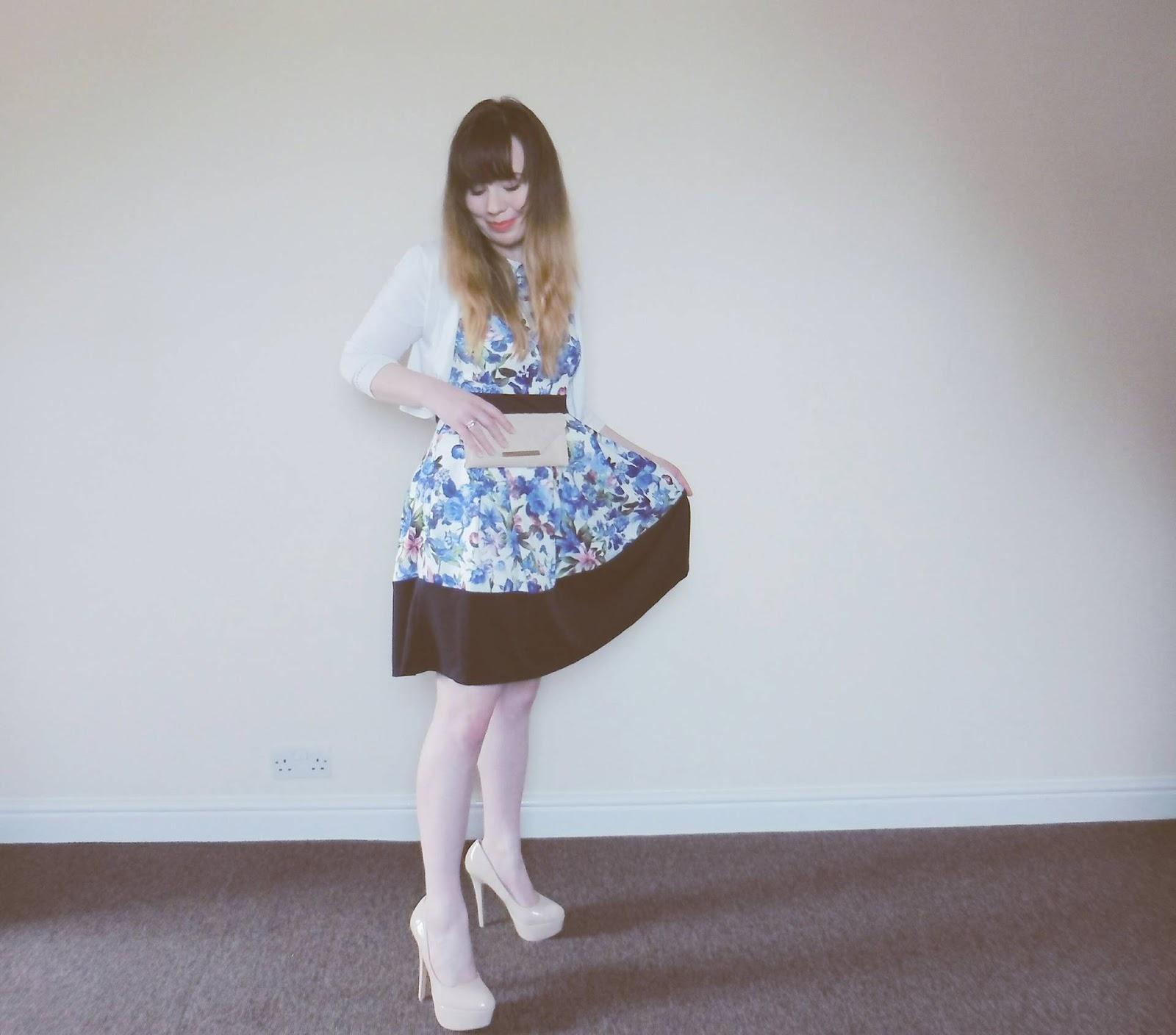 Feelin' like Zooey Deschanel in my Dorothy Perkins dress