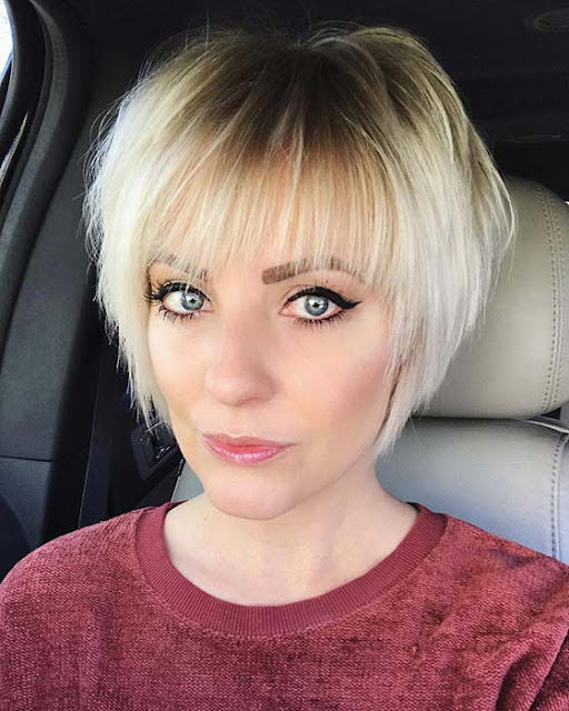 21+ Cute Short Hairstyles with Balayage for Women with Fine ...