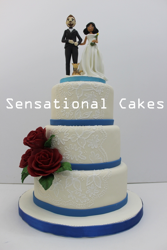 wedding cakes singapore the sensational cakes simple 3 tier white blue 25470