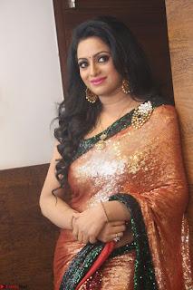 Udaya Bhanu lookssizzling in a Saree Choli at Gautam Nanda music launchi ~ Exclusive Celebrities Galleries 120.JPG
