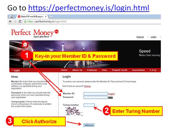 Perfect Money Registration