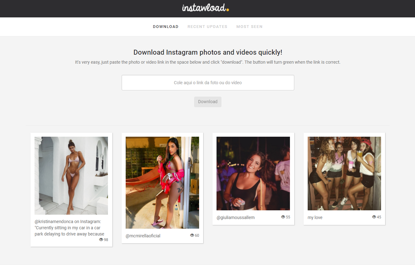 Download Instagram images online