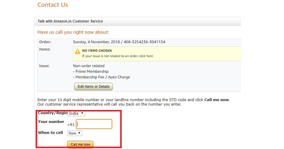 Talk with Amazon Service