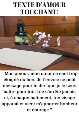 message d'amour touchant