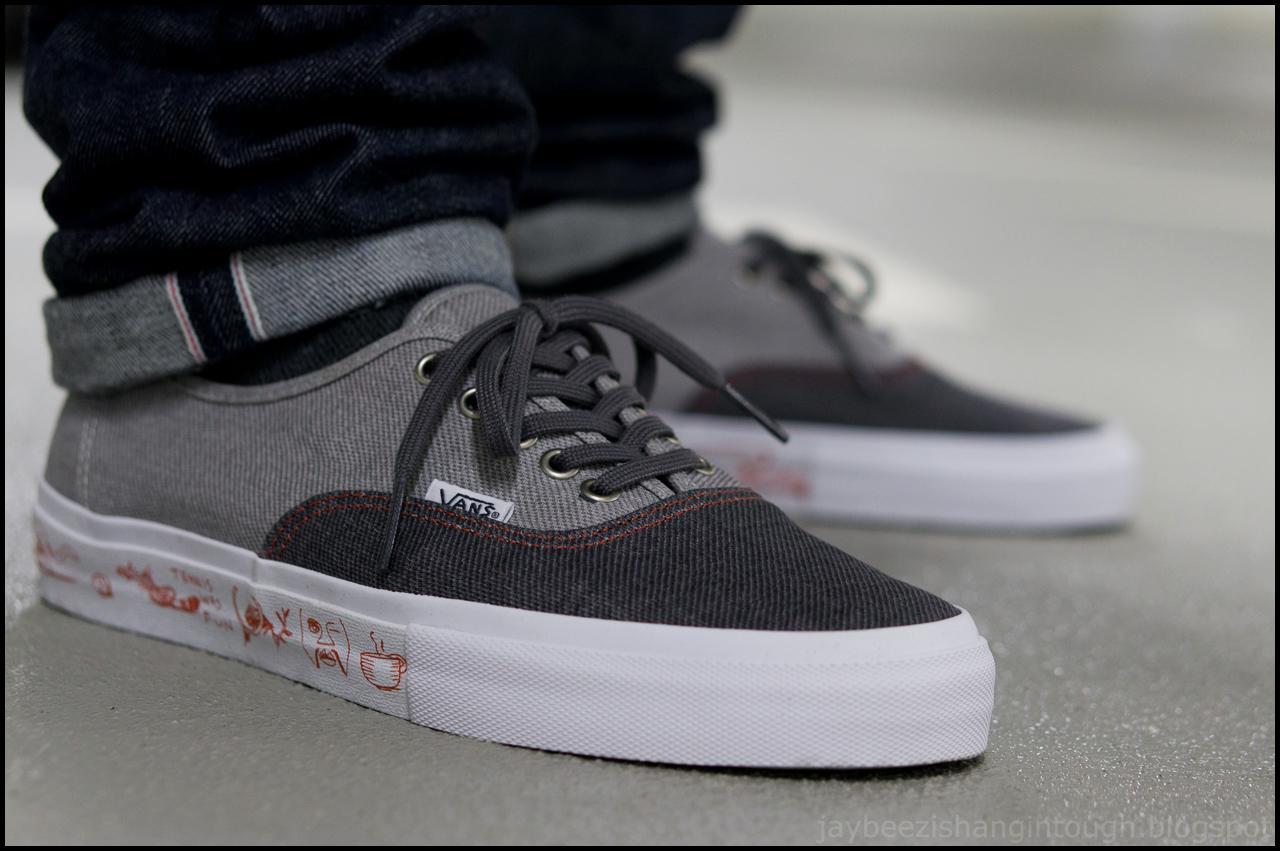 Buy vans authentic black white on feet > 50% OFF!