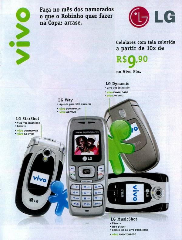 Propaganda da Vivo em 2006 às vésperas da Copa do Mundo e do Dia dos Namorados