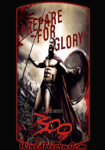 Poster Of 300 (2006) In Hindi English Dual Audio 300MB Compressed Small Size Pc Movie Free Download Only At worldfree4u.com