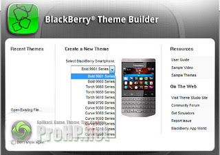 BlackBerry Theme Studio v7.1 Beta Preview 1