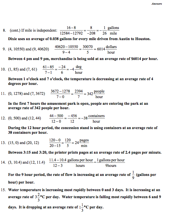 LTF: (Algebra 1, Module 3) Calculating Average Rates of