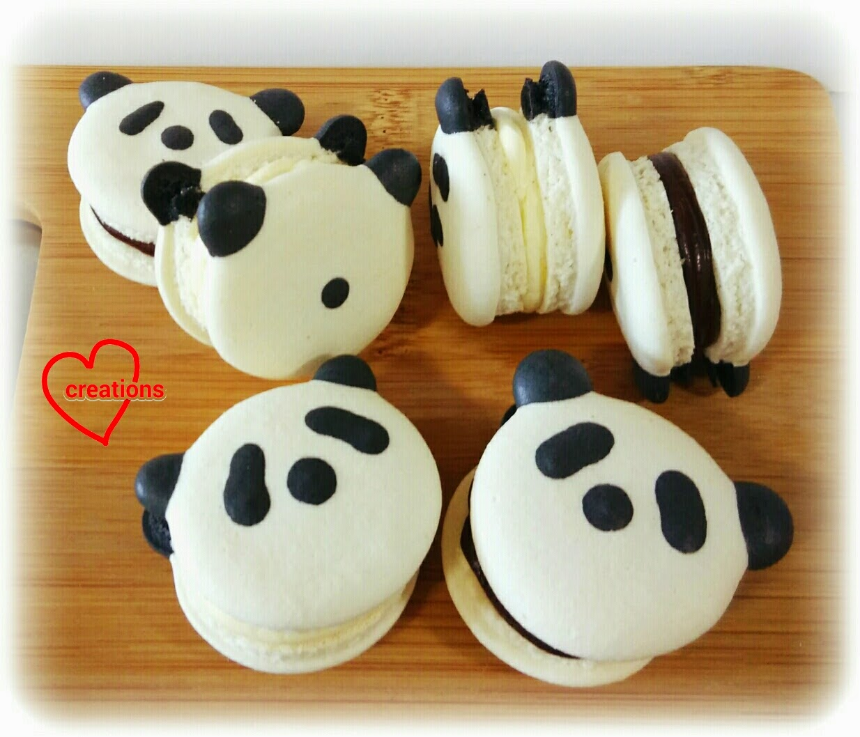 Loving Creations For You Panda Macarons With Lemon And