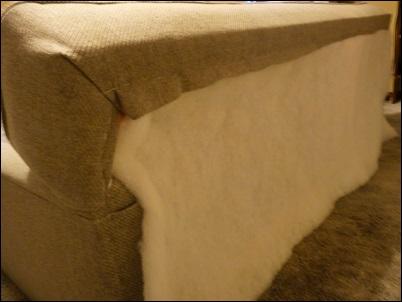 parte de tras do sofa