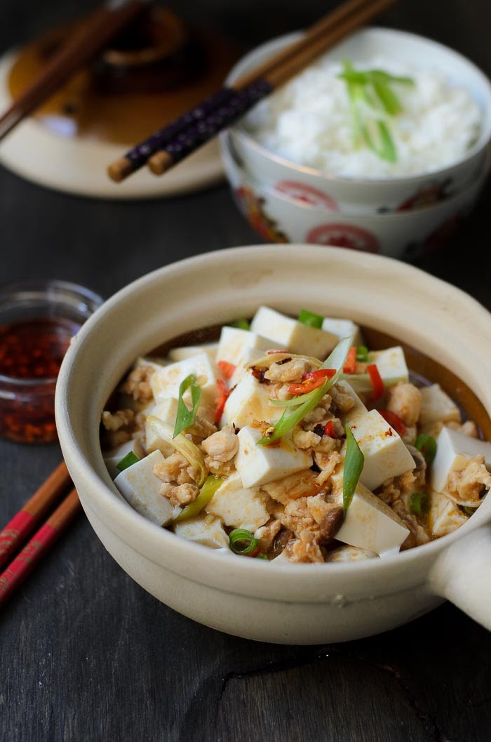 Easy mapo tofu with ground chicken