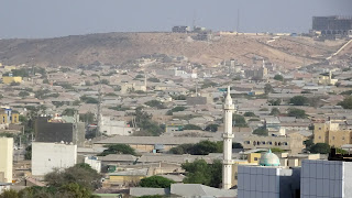 Hills in Hargeisa with Hotel