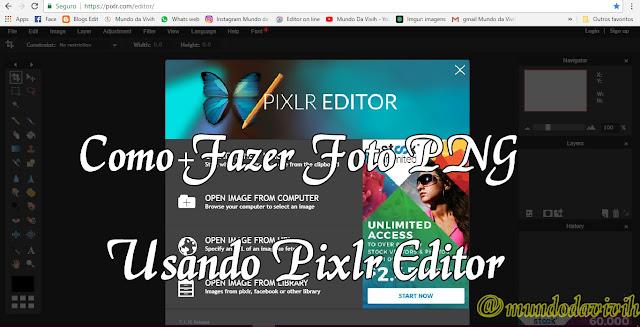 Como Fazer Foto PNG (fundo transparente) On Line