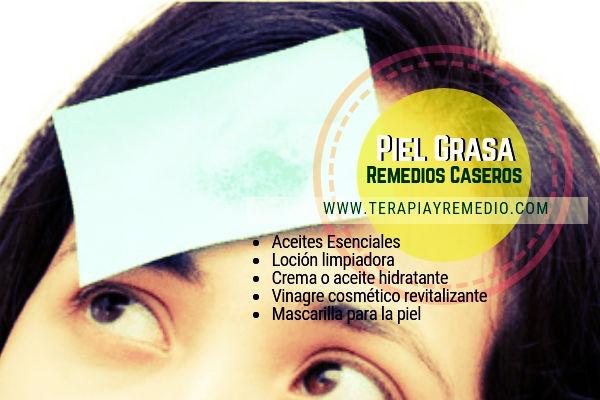 Remedios caseros para la piel grasa con aceites esenciales para crear mascarillas. cremas, lociones