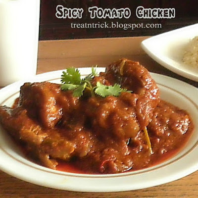 Spicy Tomato Chicken Recipe @ treatntrick.blogspot.com