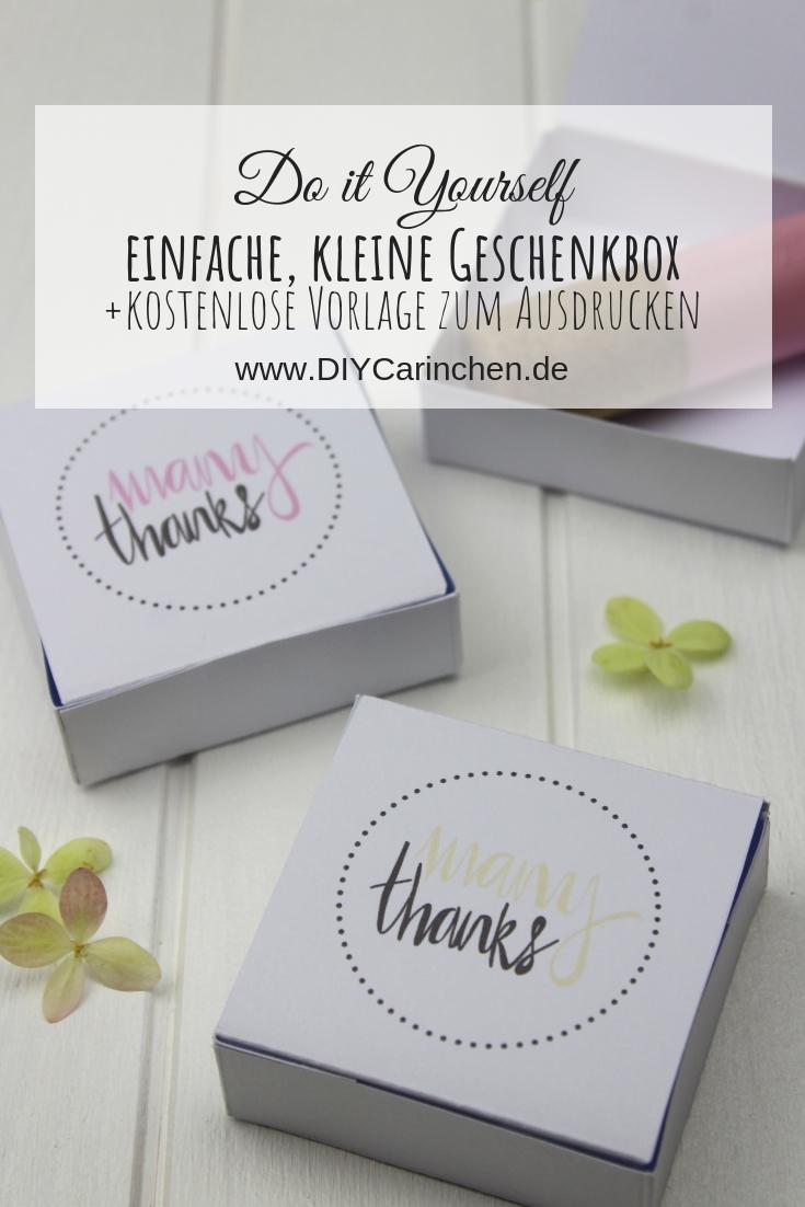 DIY: Einfache, kleine Geschenkbox selber machen - mit der neuen Kneipp® Lippenpflege + Gewinnspiel