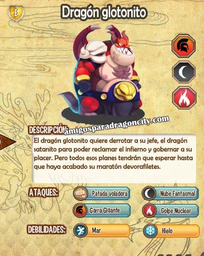 imagen de las caracteristicas del dragon glotonito