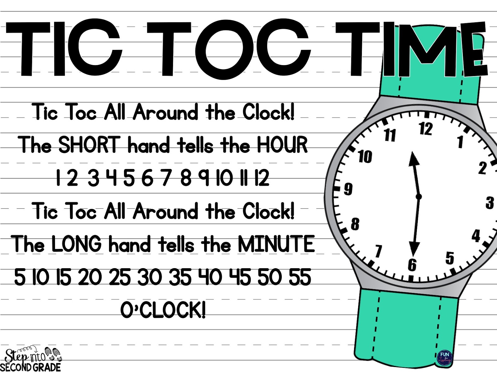 Step Into 2nd Grade With Mrs Lemons Telling Time Activities