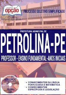 Apostila Concurso Prefeitura de Petrolina 2016