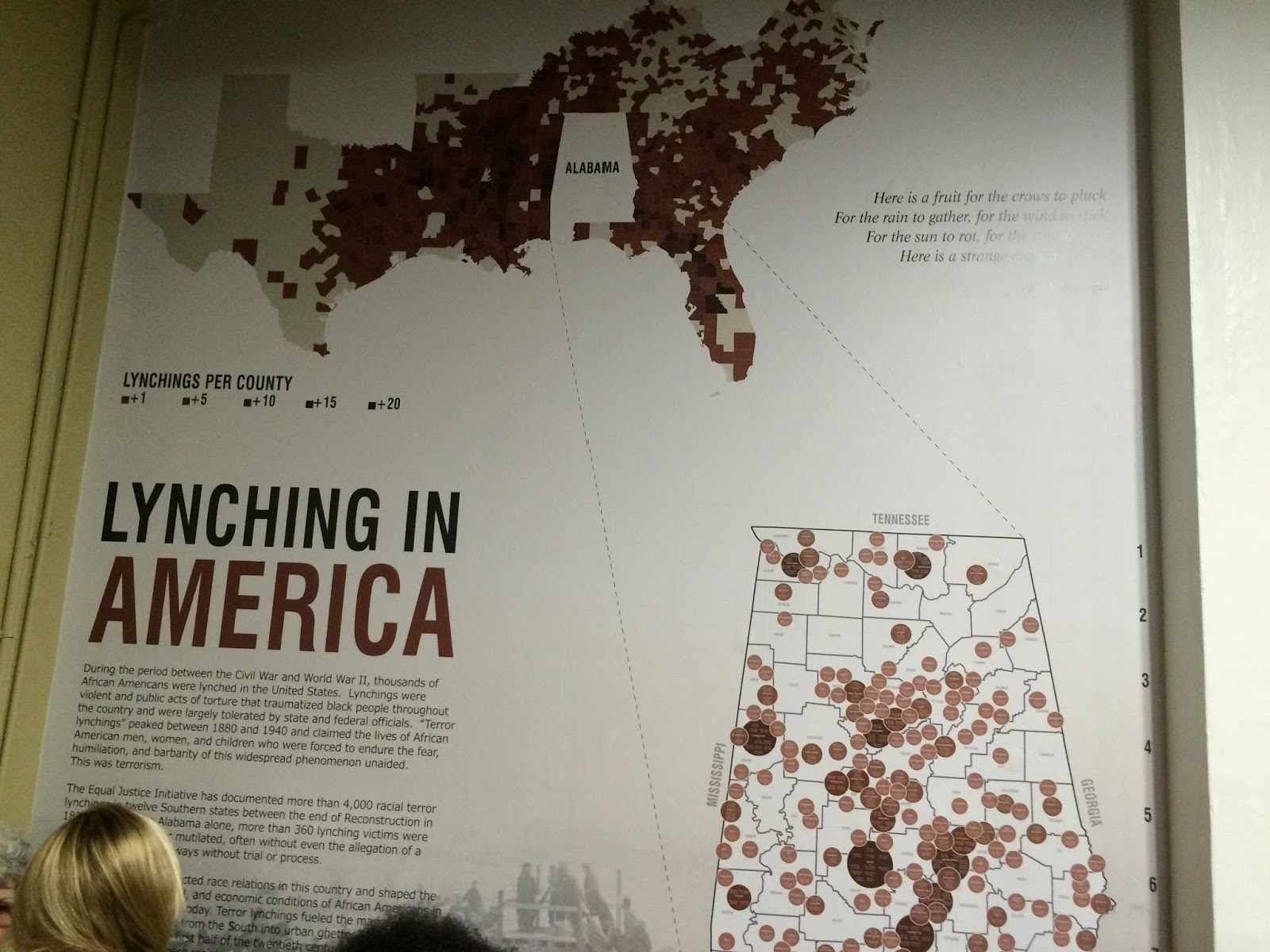 maps showing the occurrences of lynchings in the southeast and the victims in alabama the bottom picture is lee county where i currently live