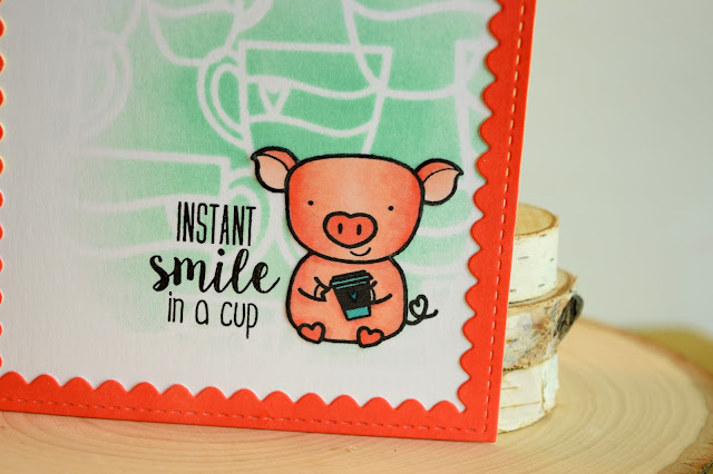 Pig Coffee Card by Jess Crafts with Create a Smile Stamps