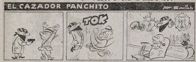 El cazador Panchito, Almanaque Chicolino 1953