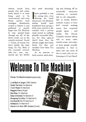 Feature on Tin Machine from The Camberwick Green Procrastination Society by Tim Worthington