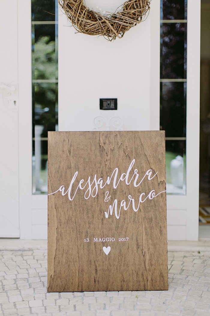 cartello matrimonio handmade