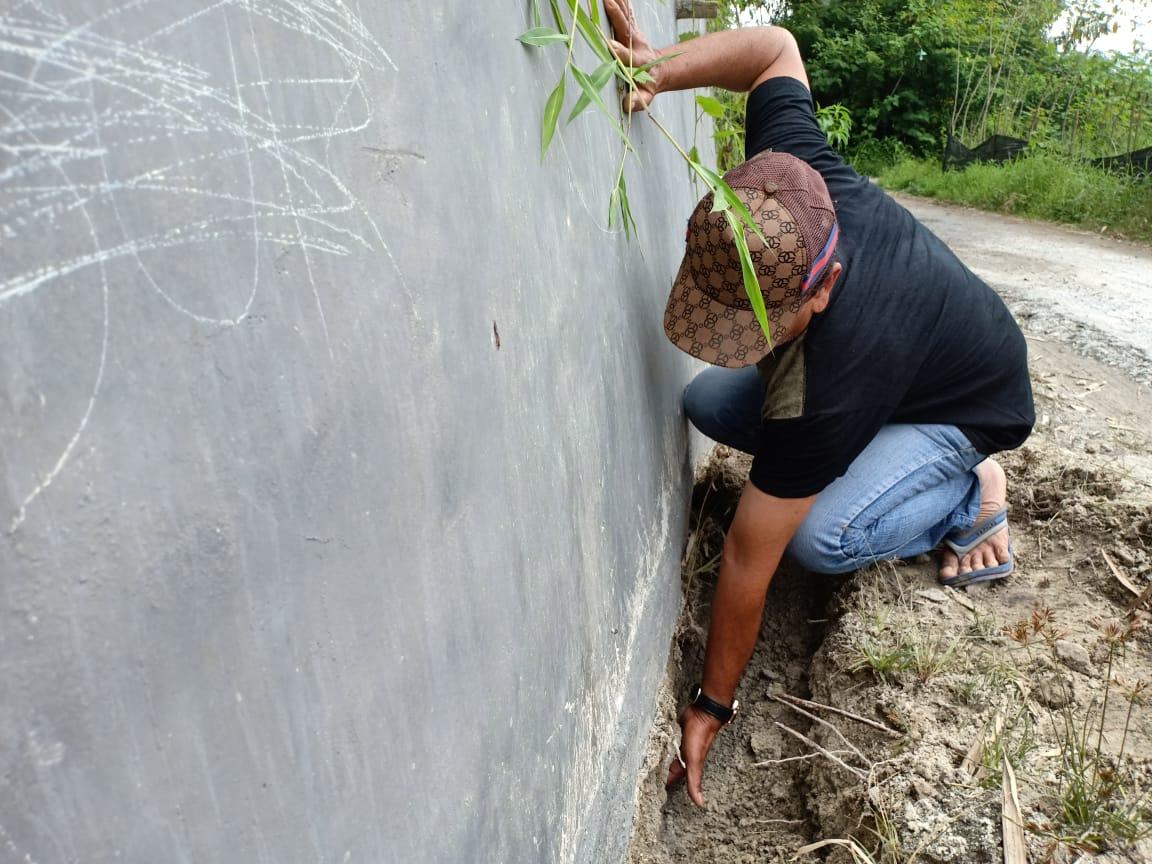 Proyek fisik Dana Desa asal jadi di Desa Parbaju Tonga, Tarutung.
