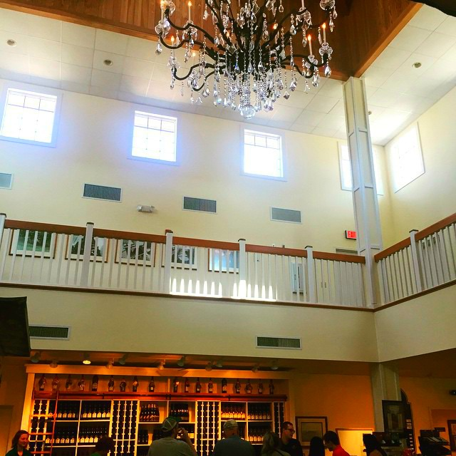 Shelton Vineyards in Dobson, N.C. Yadkin Valley Wine Region; Very large tasting room.