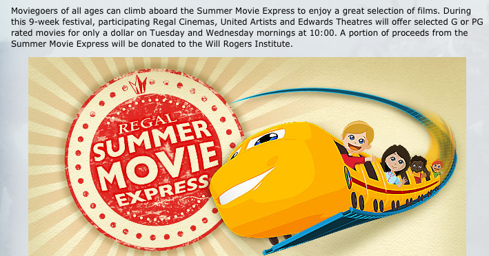 regal summer movie express 2012 schedule charlottesville