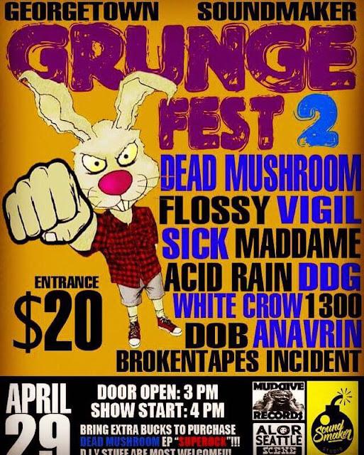 grunge fest 2 underground gigs 29 april 2017 kappasm
