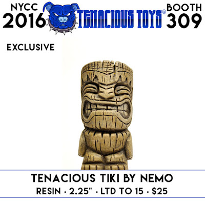 New York Comic Con 2016 Exclusive Tenacious Tiki Resin Figure by NEMO x Tenacious Toys