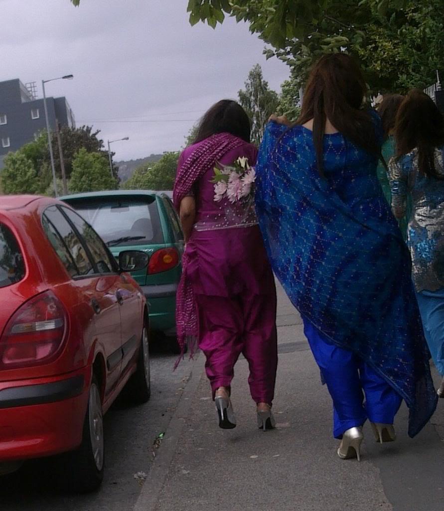 Hot Indian Desi Girls Walking On Road Captured By A Hidden -3663