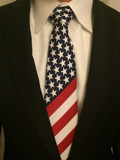 usa flag tie