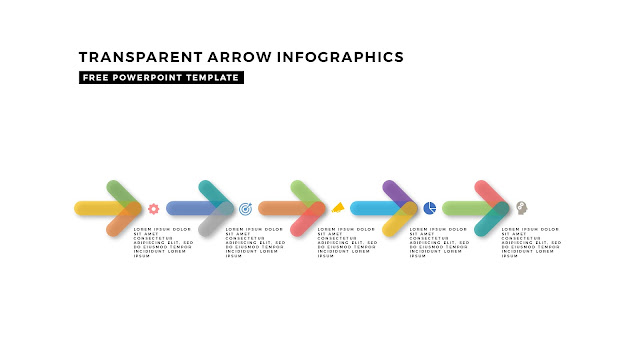 Transparent Arrow Design Elements for Free PowerPoint Template Slide 10