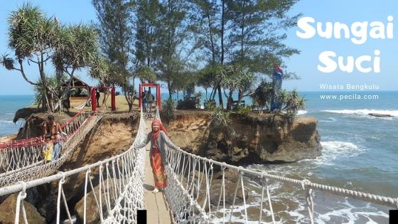 Menikmati Indahnya Pantai Sungai Suci Bengkulu