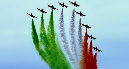 India Celebrate 66th Independence Day by Air Pilot