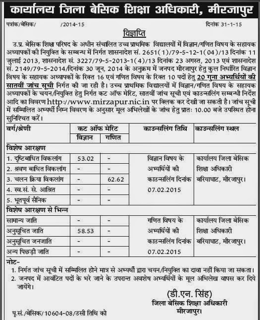 mirzapur cut off