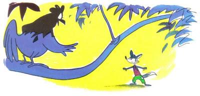 la mujer el zorro y el gallo fabula samaniego